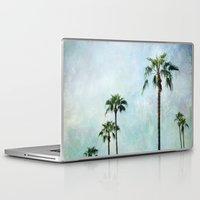 palm trees Laptop & iPad Skins featuring Palm trees by Sylvia Cook Photography