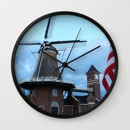 Little Chute Windmill Wall Clock