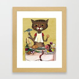 'Owen's Second Breakfast' Framed Art Print