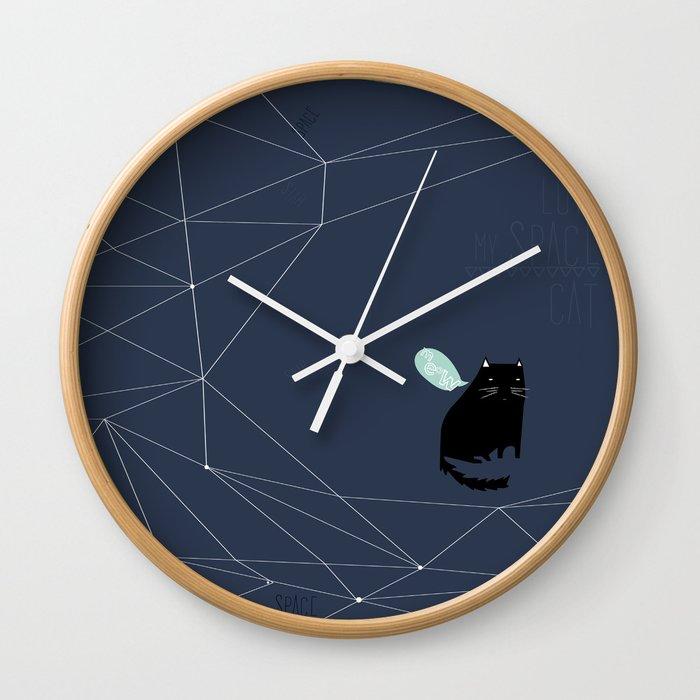 my_spacecat Wall Clock