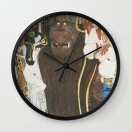 Beethoven Frieze Gustav Klimt Wall Clock