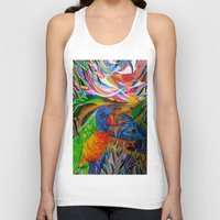 paradise Tank Tops featuring Paradise by shannon's art space