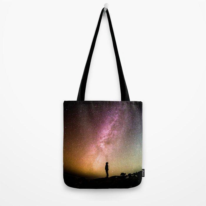 silhouette man stars Tote Bag