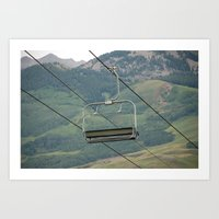 ski Art Prints featuring ski by Lexi *