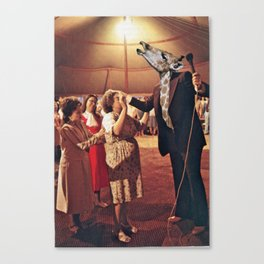 Evangiraffelist, Speaking In A Black Tongue Canvas Print