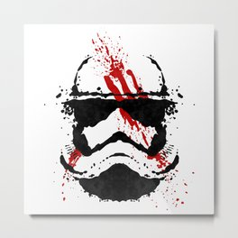 Stormtrooper Ink Blot - Finn Metal Print