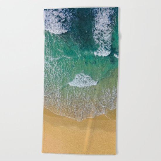Ocean from the sky Beach Towel