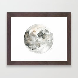 Bare Moon Framed Art Print
