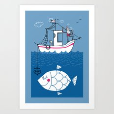 Love Boat Captain Art Print