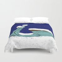 vespa Duvet Covers featuring Polar Vespa by indelible international
