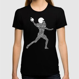 Funny Football Player Silhouette print Gift Word Cloud product T-shirt