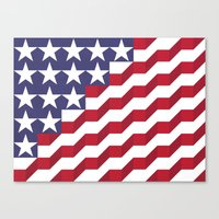 american flag Canvas Prints featuring American Flag by Mychal Diaz