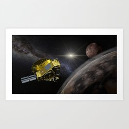 New Horizons space probe - Pluto flyby in action Art Print