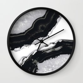 Gray Black Agate #2 #gem #decor #art #society6 Wall Clock