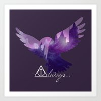 hedwig Art Prints featuring Hedwig by KeriiLynne