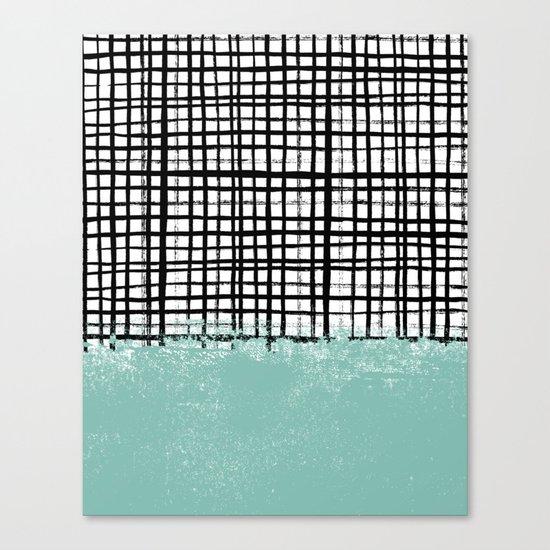 Mila - Grid and mint -  paint, art, artist cell phone case, grid phone case Canvas Print