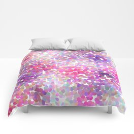 Pink and Purple Galaxy Confetti Comforters