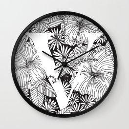 Flower V Wall Clock