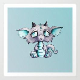 Baby Lavender Dragon Art Print