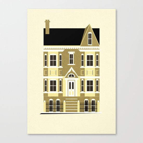 A house (olive option) Canvas Print