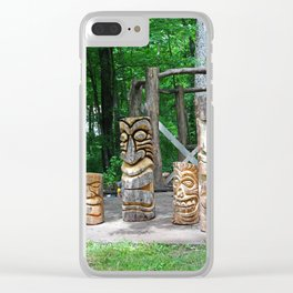 Totems on Put-in-Bay Clear iPhone Case