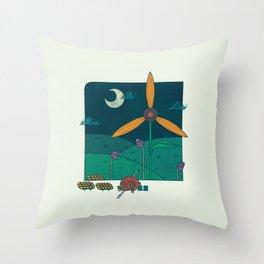 Green Living Throw Pillow