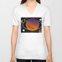 planets V-neck T-shirts featuring planets by lescapricesdefilles