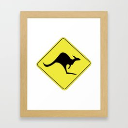 Kangaroo Sign Framed Art Print