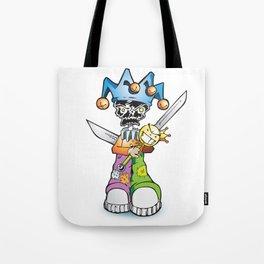 skull clown Tote Bag