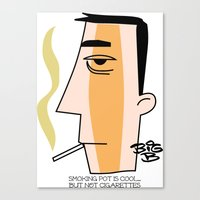 cigarettes Canvas Prints featuring Cigarettes by Brian Sisson