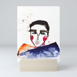Ula in a Heavy Scarf Mini Art Print