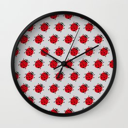 Ladybug Pattern_A Wall Clock