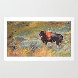 Large Bison Art Print