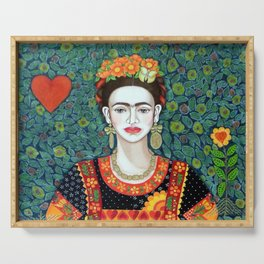 Frida, queen of hearts closer II Serving Tray