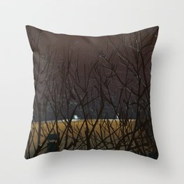 Icy Trees Throw Pillow