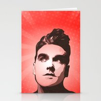 smiths Stationery Cards featuring The Smiths - This Charming Man - Pop Art by William Cuccio aka WCSmack