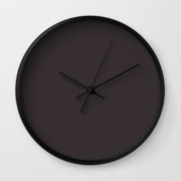 Vintage New England Shaker Village Milk Paint Pitch Black Wall Clock