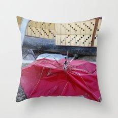Umbrella Blues 2 Throw Pillow