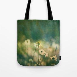 He Loves Me, Daisies Wildflowers Tote Bag
