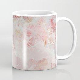 Vintage Floral Rose Roses painterly pattern in pink Coffee Mug