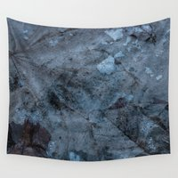 transparent Wall Tapestries featuring Transparent Blue by AngelaBalaguer
