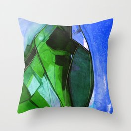 Abstraction 317H by Kathy Morton Stanion Throw Pillow