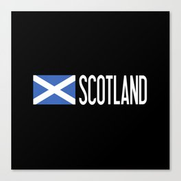 Scotland: Scottish Flag & Scotland Canvas Print