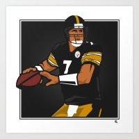 steelers Art Prints featuring Big Ben - Steelers QB by lockerroom51