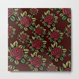 Roses Pattern Metal Print