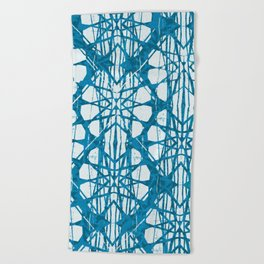 Blue and White Batik  Beach Towel