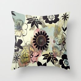 Muster/Blume/Tiere/brittmarks Throw Pillow