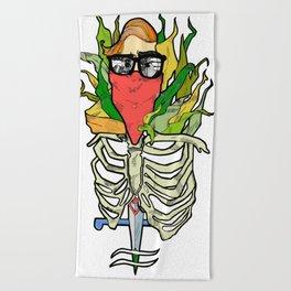 dagger girl Beach Towel