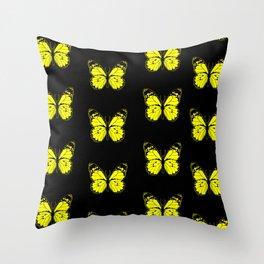 Yellow Butterflies - First Sign of Spring Throw Pillow