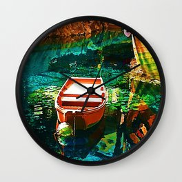 A Row Boat to Nowhere Wall Clock